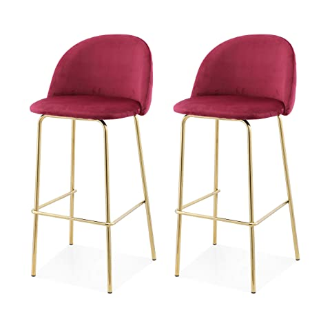 Strange Meelano 62 Gd Drd Counter Height Stools Dark Red Unemploymentrelief Wooden Chair Designs For Living Room Unemploymentrelieforg