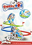Haktoys Dalmatian Spotty Dog Chasing Game Playful and Educational Set - Improved Version Playset with Flashing Lights
