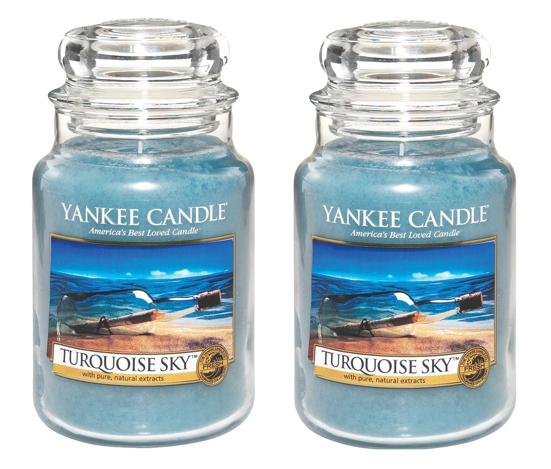 【お気に入り】 Yankee 2パック CandleターコイズSky Yankee 22oz Jar Candle、Large 2パック Candle、Large B00NAEK6E8, 81_store:16dd2c52 --- albertlynchs.com