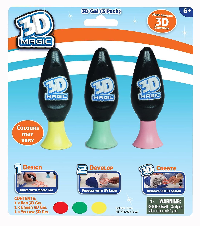 3D Magic 3 Gel Refil Set by ToyMarket: Amazon.es: Juguetes y juegos