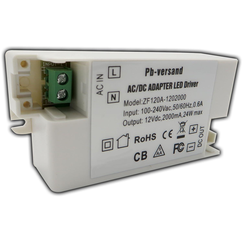 LED Leuchmittel Trafo 12V DC 24 Watt Netzteil Treiber G4 ...
