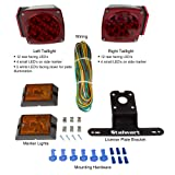 12V LED Trailer Light Kit, Submersible For Trailers Under 80 Feet- Includes Stop, Tail and Turn Signal Lights- DOT Approved by Stalwart