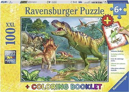 Amazon Com Ravensburger 13695 World Of Dinosaurs Jigsaw Puzzles Toys Games