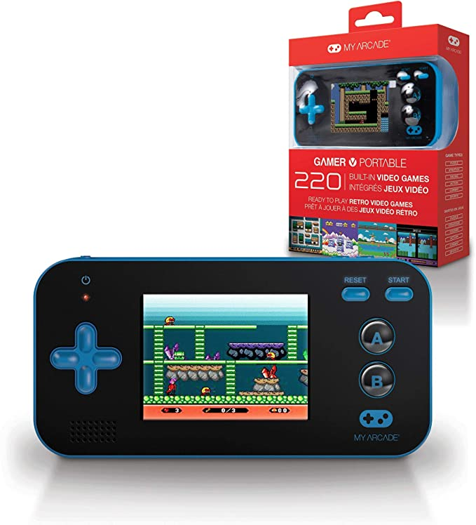 MY ARCADE Gamer V: Portable Gaming System - Blue Black