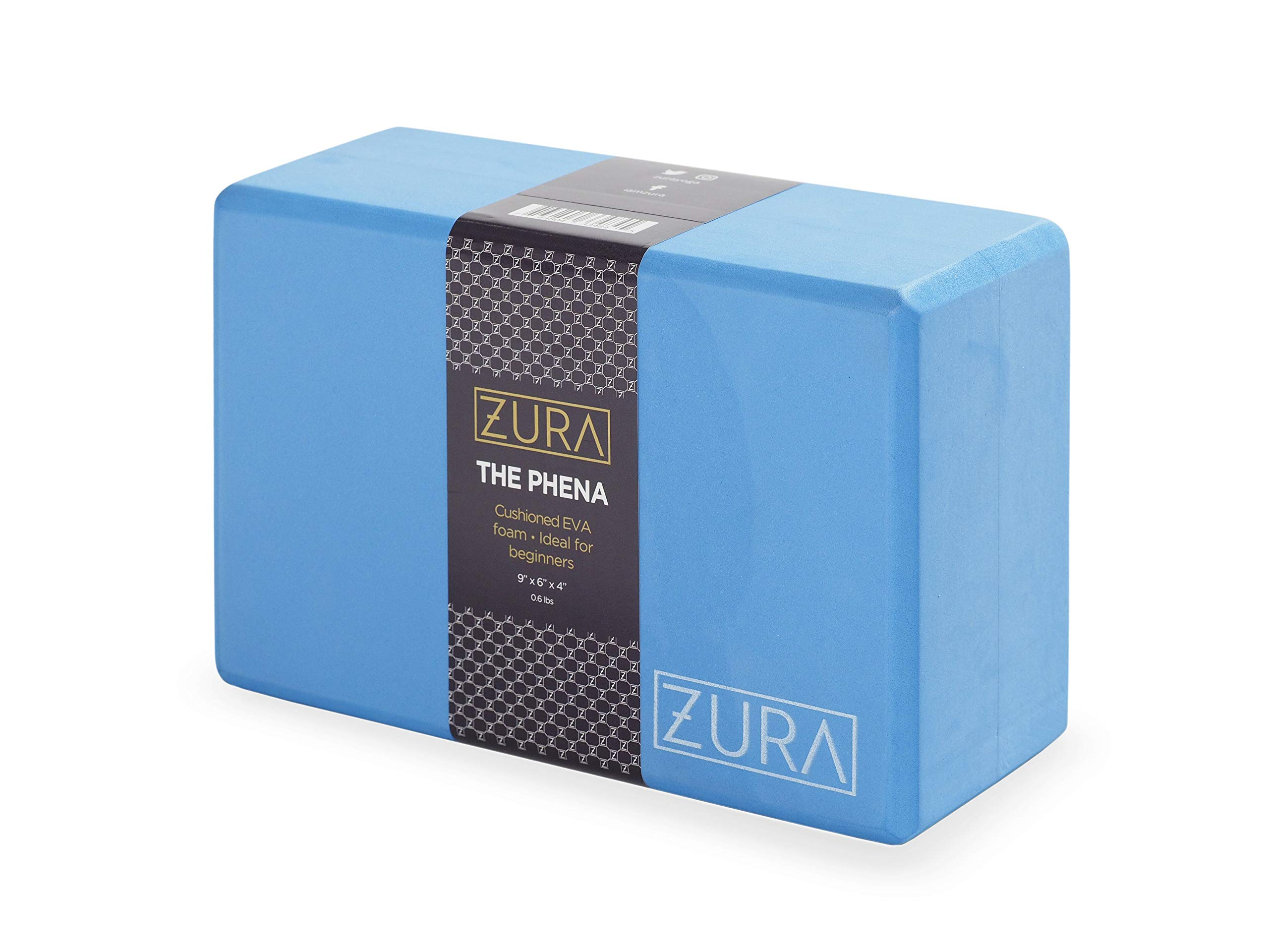 ZURA Premium Yoga Block by 100% EVA Foam - All Natural & Eco Friendly - Superior Stability & Balance - Free of Toxic Smells & Chemicals