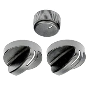 APDTY 117374 AC Heat HVAC Control Head Replacement Control Knob Set For 1994-1997 Dodge Ram 1500 2500 3500 Pickup (Includes 2 HVAC Control Knobs = 04882482, 1 Blower Speed Control Knob = 04882511)