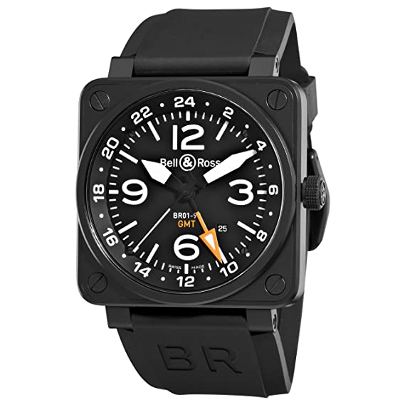 f38d0fb3890 Bell   Ross Men s BR-01-93-GMT Aviation Black GMT Dial Watch Watch  Bell  and Ross  Amazon.ca  Watches