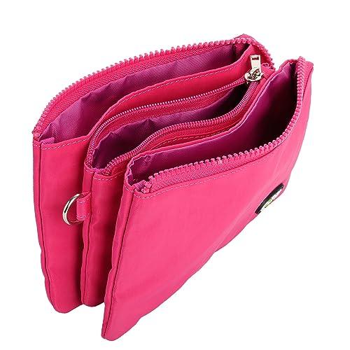 EOTW Monedero Carteras para Mujer Bolso de Mano con Llaves Monedas Tarjetas Dinero.(Negro) (Fuchsia): Amazon.es: Zapatos y complementos