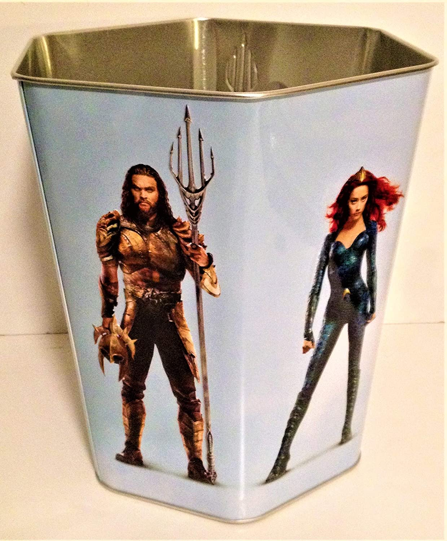 DC Comics: Aquaman 2018 Movie Theater Exclusive 130 oz Metal 6-Sided Popcorn Tin