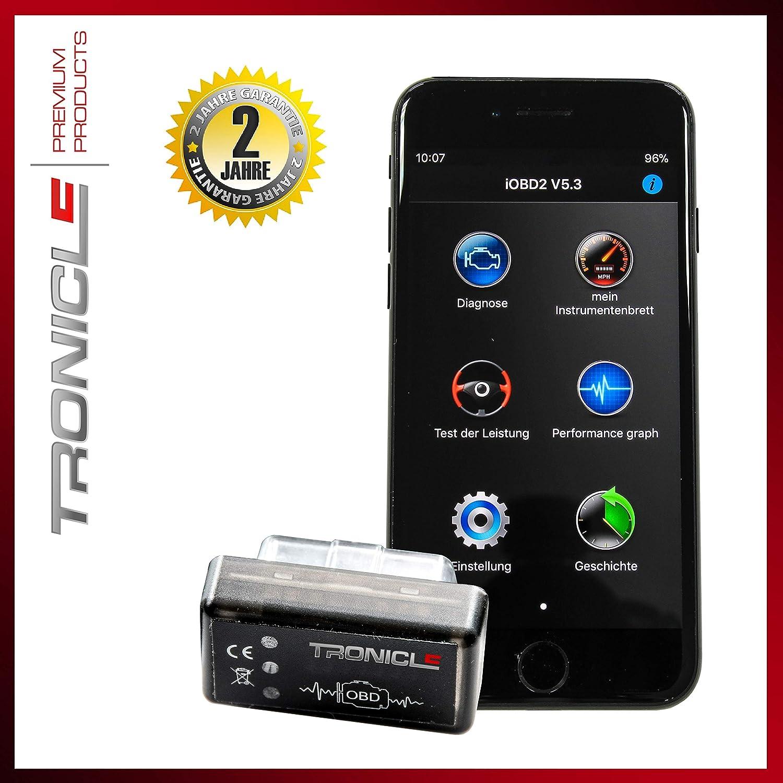 Tronicle Autoscan Blue 2019 OBD2 Android Mini Diagnose-Ger/ät Torque Auto Car PKW KFZ OBD 2 Bluetooth Fehler-Speicher Lesen und L/öschen