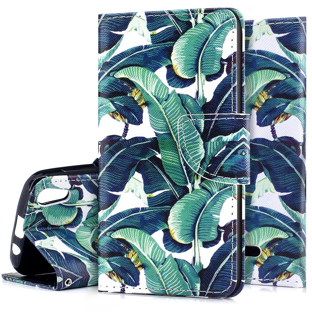 Ukayfe Custodia Wiko Lenny 4 Flip Cover PU Leather Luxury Puro Colore Custodia Pittura Colorata Design Bumper Slim Folio Protettivo Portafoglio Cover Compatibile con Wiko Lenny 4-Fiore Nero
