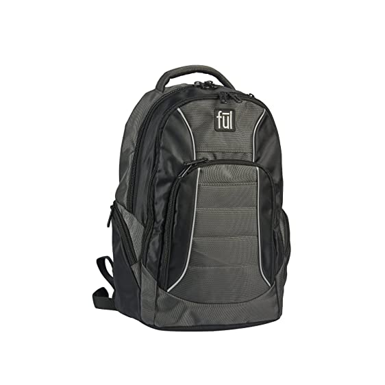 Amazon.com | ful Ful Ace Padded Laptop Backpack, Fits Up To 15in ...