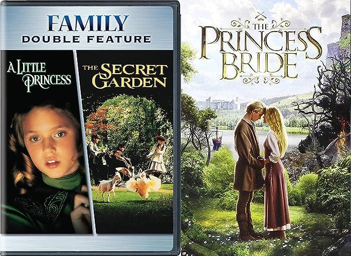 Princess Bride + The Secret Garden & A Little Princess DVD Set Classic Family Fantasy Movie Bundle Fairy Tale Triple Feature