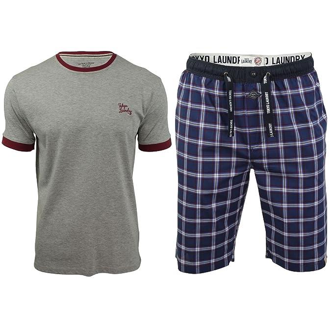Tokyo Laundry - Pantalón de pijama - Cuadrados - Manga Larga - para hombre kd171