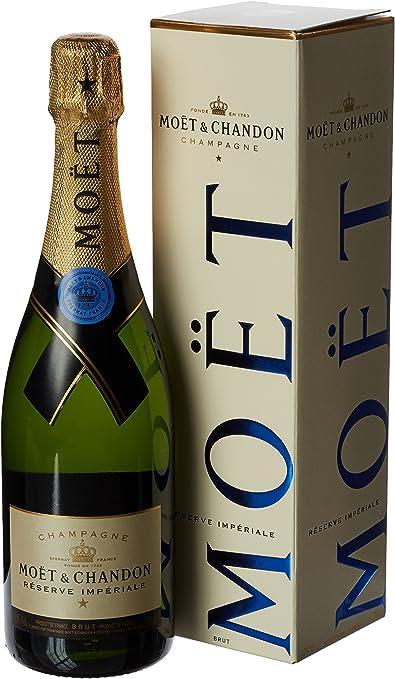 Moet & Chandon Reserve Imperial con el Caso - Champagne 0,75 lt.: Amazon.es: Alimentación y bebidas