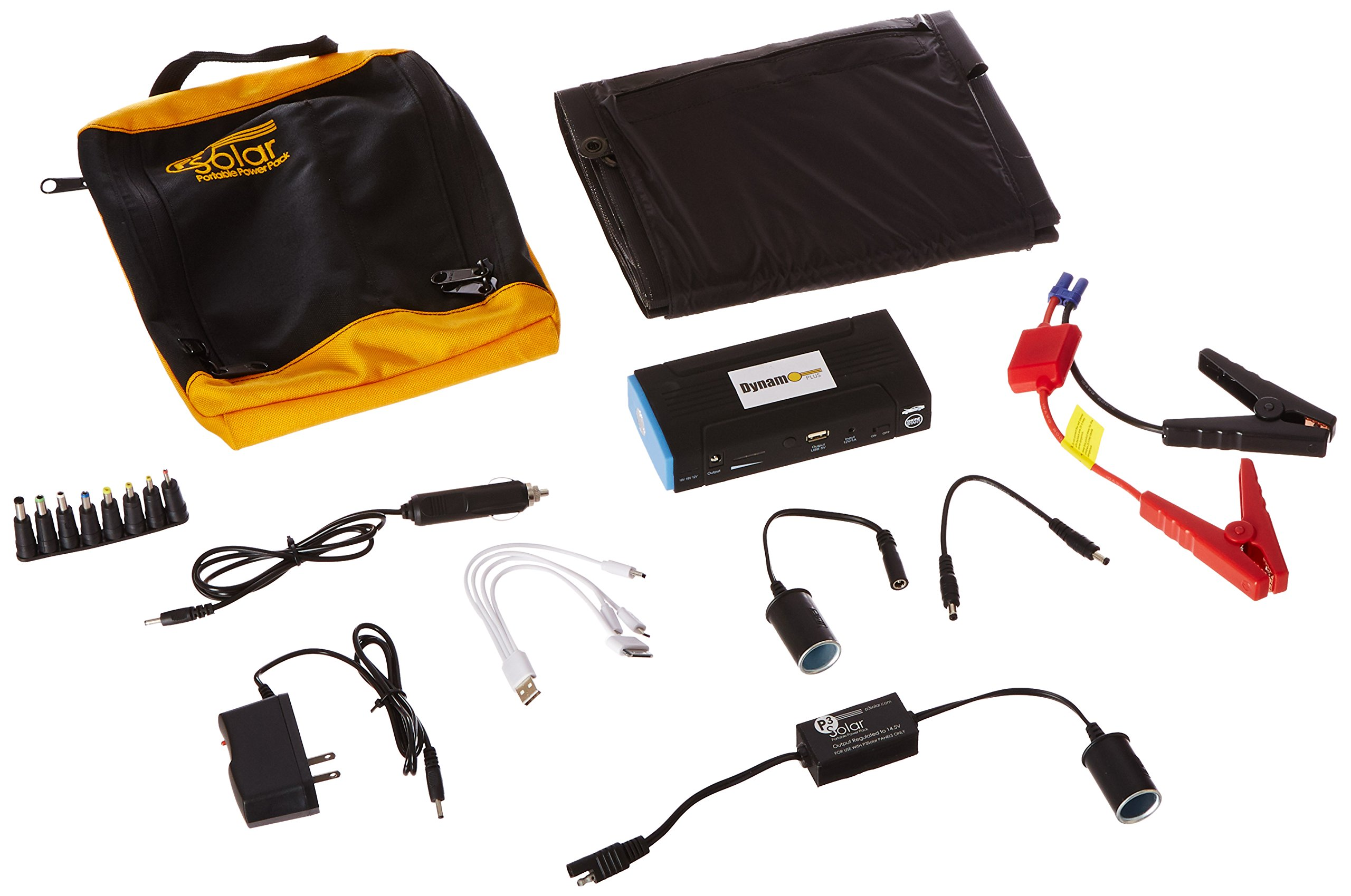 P3Solar Dynamo Plus - Lightweight Portable Battery Pack with foldable solar panel by P3 Solar Dynamo Plus