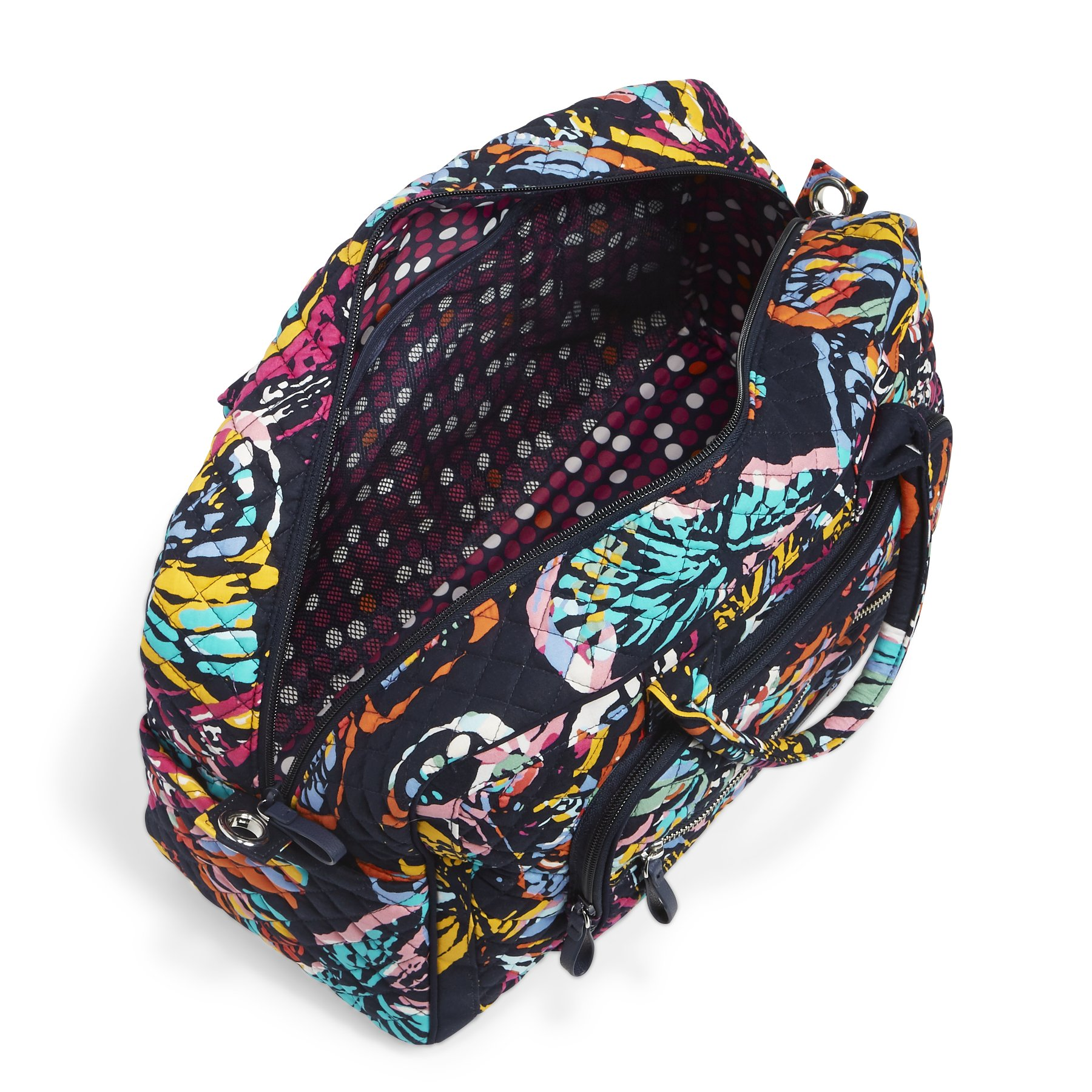 Vera Bradley Iconic Compact Weekender Travel Bag, Signature Cotton, Butterfly Flutter by Vera Bradley (Image #4)
