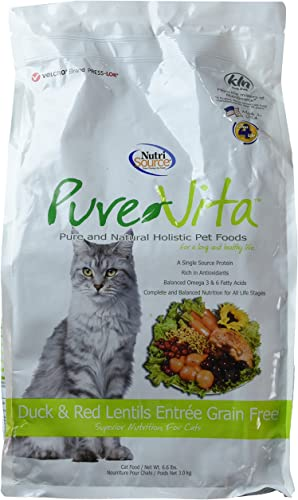PureVita Grain Free Duck Cat Food 6.6lb