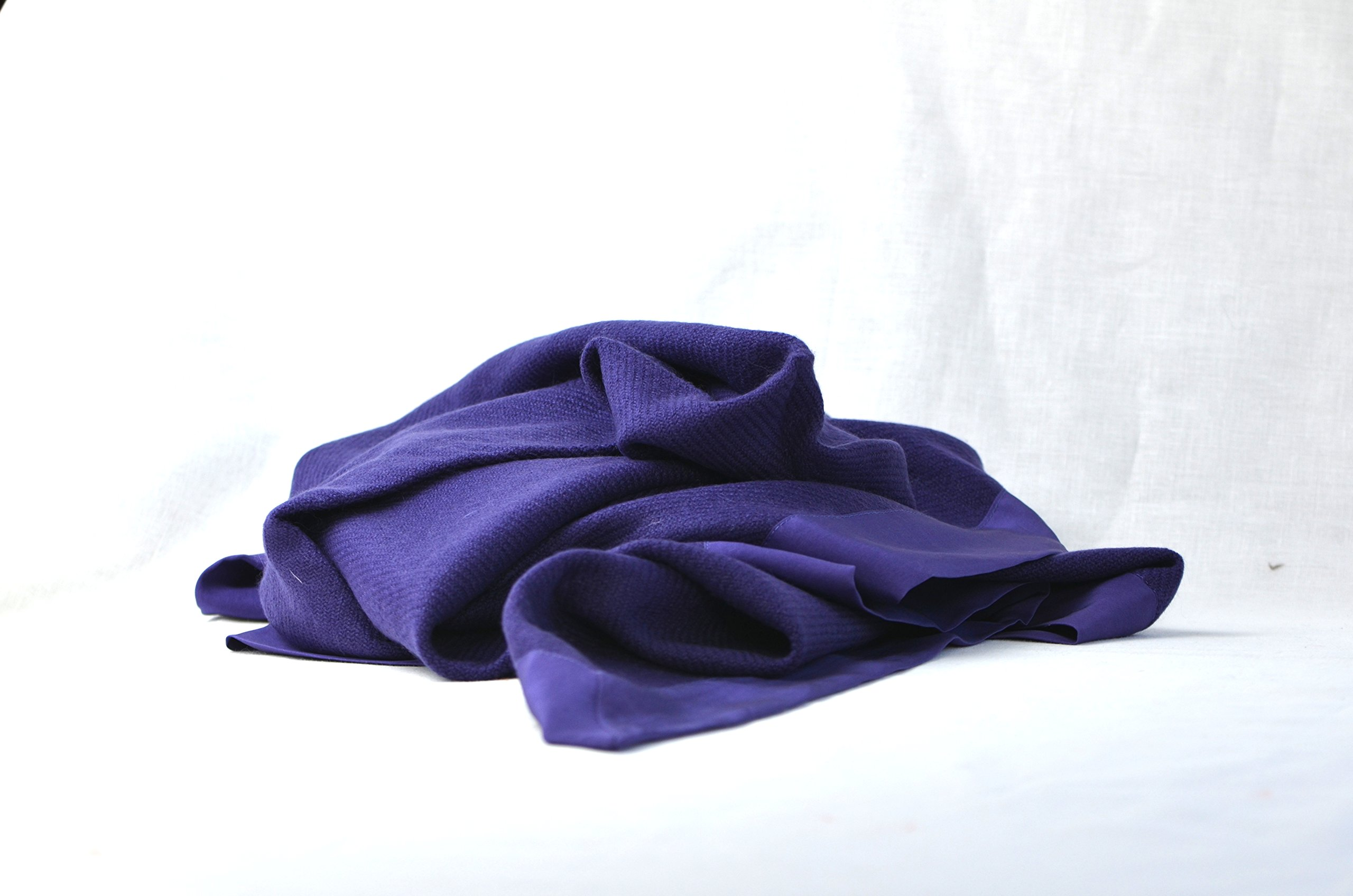 Symrik Cashmere Baby Blanket 100% Pure Handmade Lightweight and Naturally Hypoallergenic (Royal Purple)