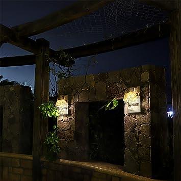 HOMKO Mason Jar Decoración de Pared con Luces LED de Hadas y ...