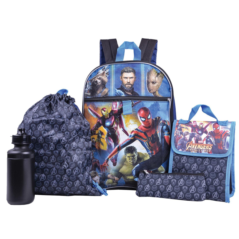 Marvel Avengers Backpack Combo Set - Marvel Avengers 5 Piece Backpack School Set