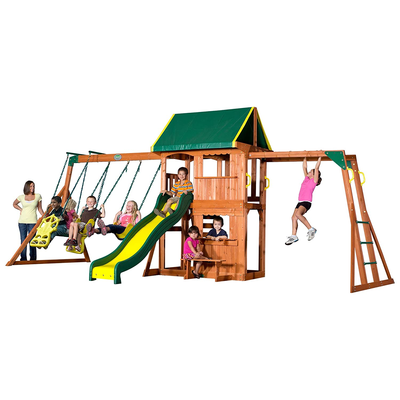 Amazon.com: Backyard Discovery Prairie Ridge All Cedar Wood Playset Swing  Set: Toys & Games - Amazon.com: Backyard Discovery Prairie Ridge All Cedar Wood Playset