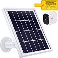 Solar Panel Compatible with Arlo Pro Only, 12ft Waterproof Outdoor Power Charging Cable and Adjustable Mount for Outdoor Arlo Pro Security Camera Continuously (White)