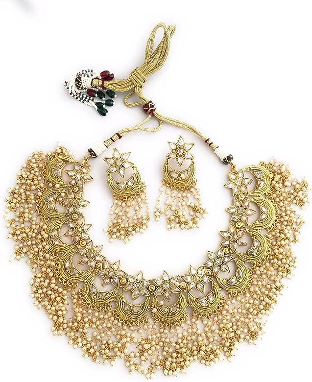 Choker Set Indian Jewelry Indian Choker Set Choker Necklace