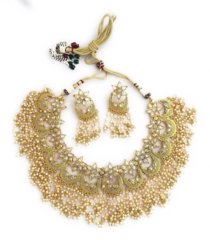 5ced273cf3d1a Choker set, Indian Jewelry, Indian Choker Set, Choker Necklace ...