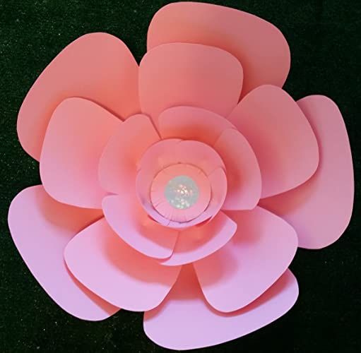 Amazon Com Jumbo Paper Flower 18 Diameter Big Baby Rose In