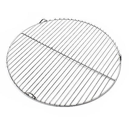 Rejilla grill parrilla redonda acero inoxidable 44,5 cm ...