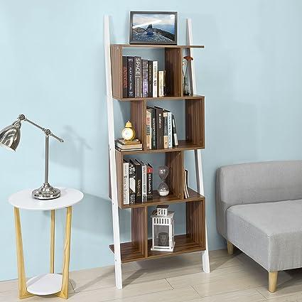 SoBuy® Scala libreria, scaffale angolo , Mobiletto da soggiorno ...