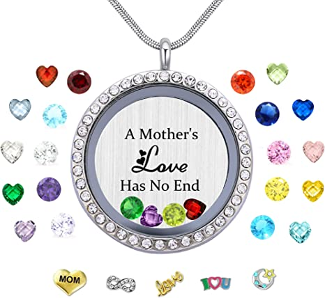 Valentine/'s Gift Kids Jewelry Charm Locket Floating locket  Gift for Daughter Grand Daughter Girls Necklace Keepsake Birthday Girl Gift  St