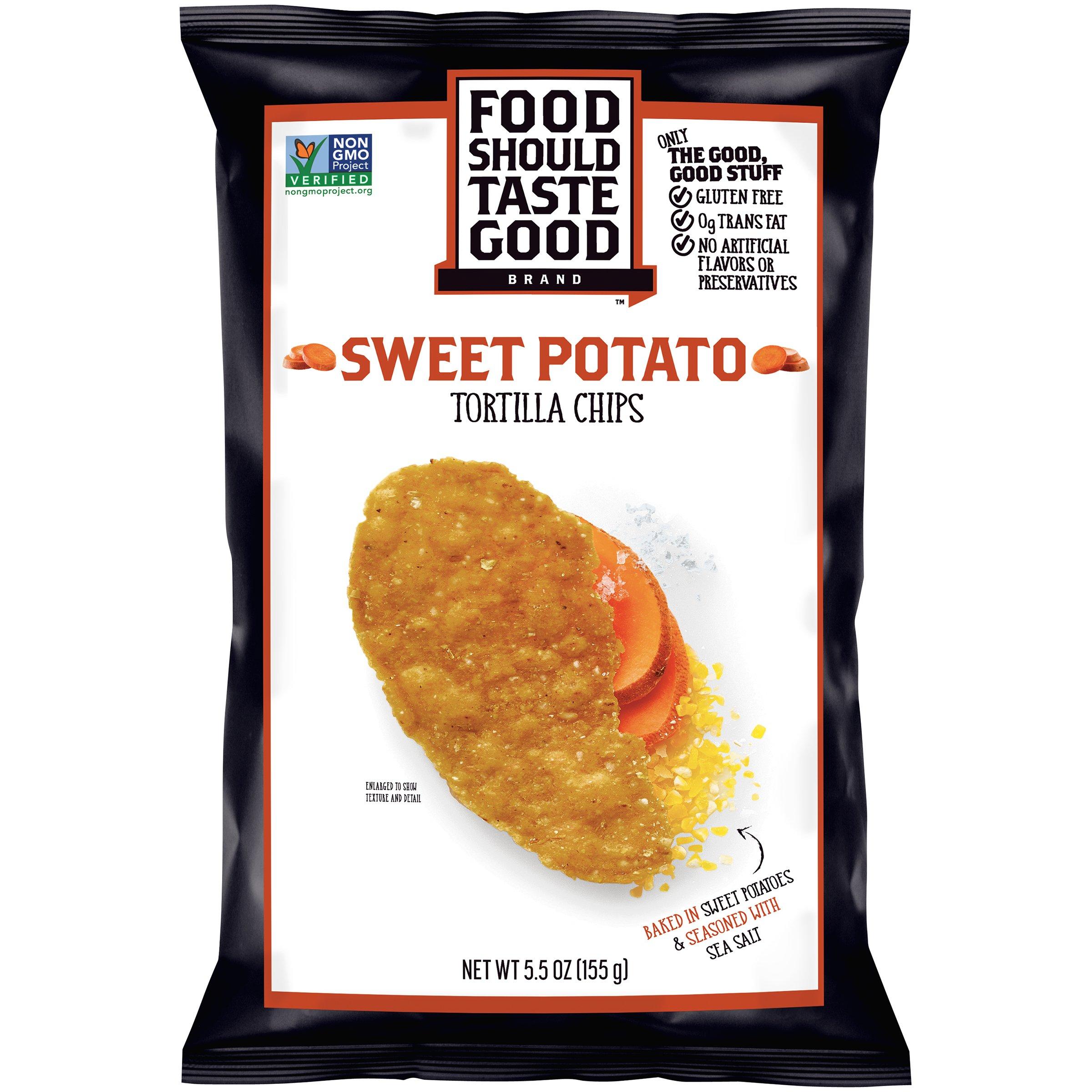Food Should Taste Good BG13043 Food Should Taste Good Sweet Potato Tortilla chip - 12x5.5OZ