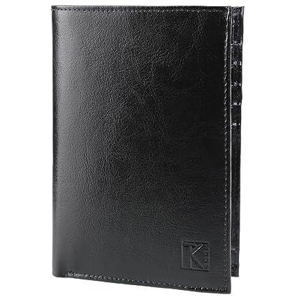 f4dd72fb3b9e BEST-SELLER TK01 - Portefeuille cuir noir   Portefeuille homme   15x11