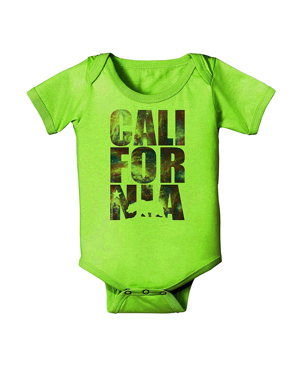 Space Nebula Print Baby Romper Bodysuit TooLoud California Republic Design
