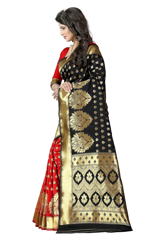 Jamdani Tussar Silk Saree With Blouse Piece