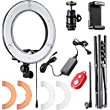 Neewer Ring Light 14-inch LED with Light Stand 36W 5500K Lighting Kit with Soft Tube,Color Filter,Hot Shoe Adapter,Bluetooth Receiver for Makeup,Camera Smartphone Youtube Video Shooting