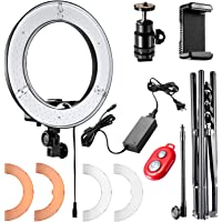 Neewer 12-inch Inner/14-inch Outer LED Ring Light and Light Stand 36W 5500K Lighting Kit with Soft Tube,Color Filter,Hot Shoe Adapter,Bluetooth Receiver