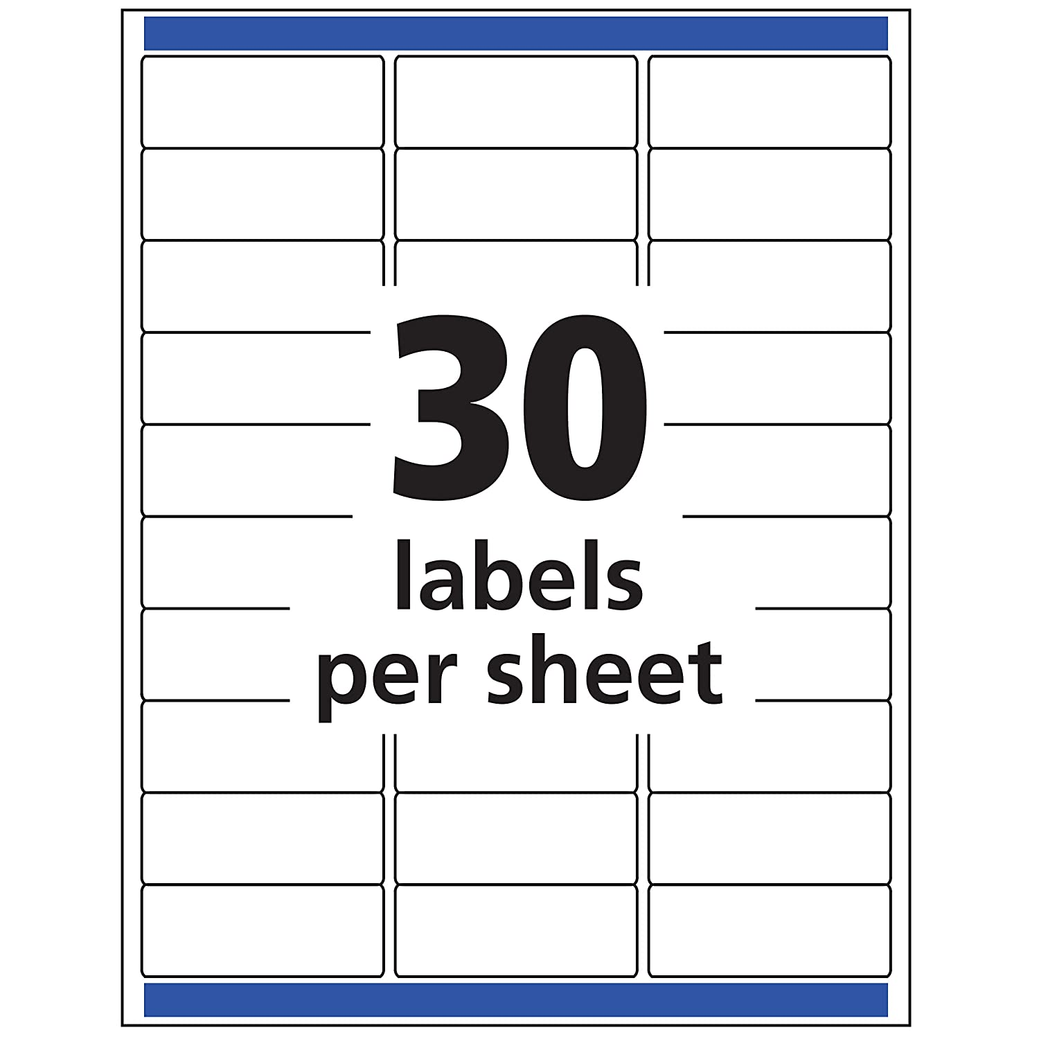 "B00004Z5T0 Avery Matte Frosted Clear Address Labels for Inkjet Printers, 1"" x 2-5/8\"", 300 Labels (18660) 81Ay3Qz2BdBL"