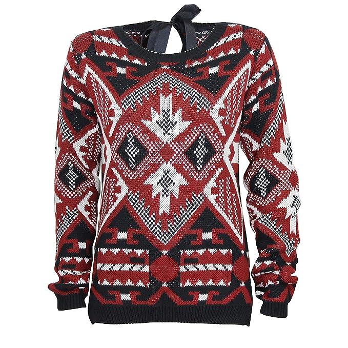 Esmara Esmara Gr38SchwarzrotBekleidung Damen Pullover