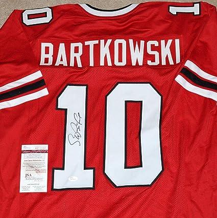 40edde38e Autographed Steve Bartkowski Jersey - #10 Red + witness COA W700801 - JSA  Certified -
