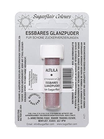 Amazon Com Sugarflair Dusky Lilac Edible Lustre Dust