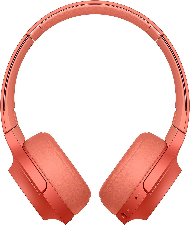 Sony WHH800 - Auriculares de Diadema inalámbricos con Bluetooth, Rojo