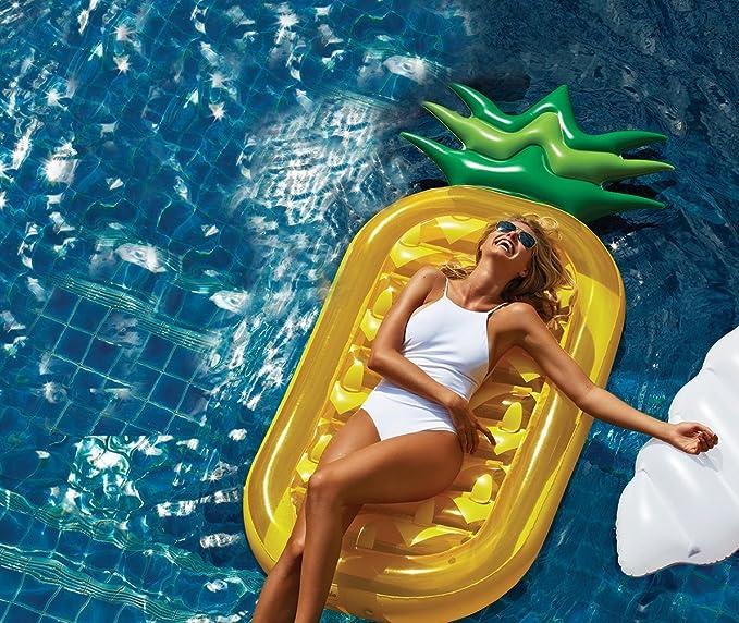 Decestar Inflable Gigante de Piña Flotador de Helado para piscina ...