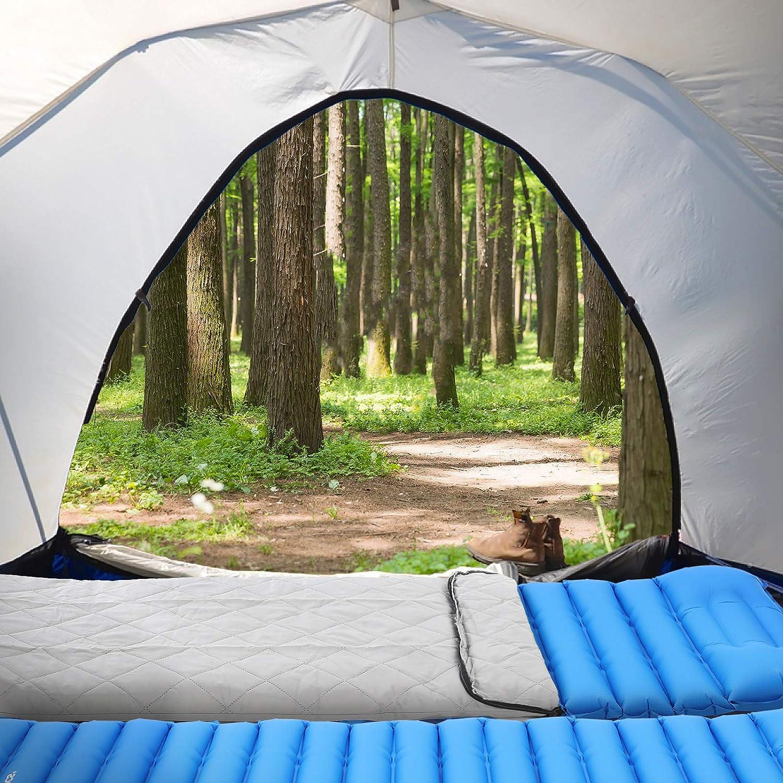 pour Tente Tapis de Couchage 195 x 65 x 9 cm avec Oreiller int/égr/é Sac Pompe Offert SONGMICS Matelas Autogonflant de Camping Tapis de Sol Gonflable Randonn/ée Ultra l/éger Camping