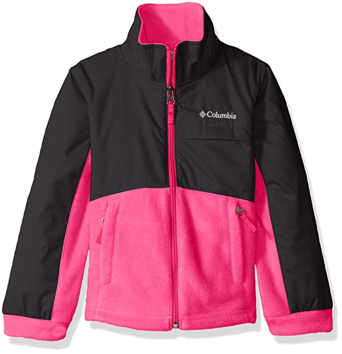 9f3a00984 Columbia Benton Springs LLL Overlay - Chamarra de Forro Polar para niña,  Punch Pink/