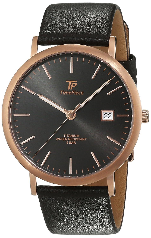 Time Piece Herren-Armbanduhr Titan Analog Quarz Leder TPGT-50343-51L