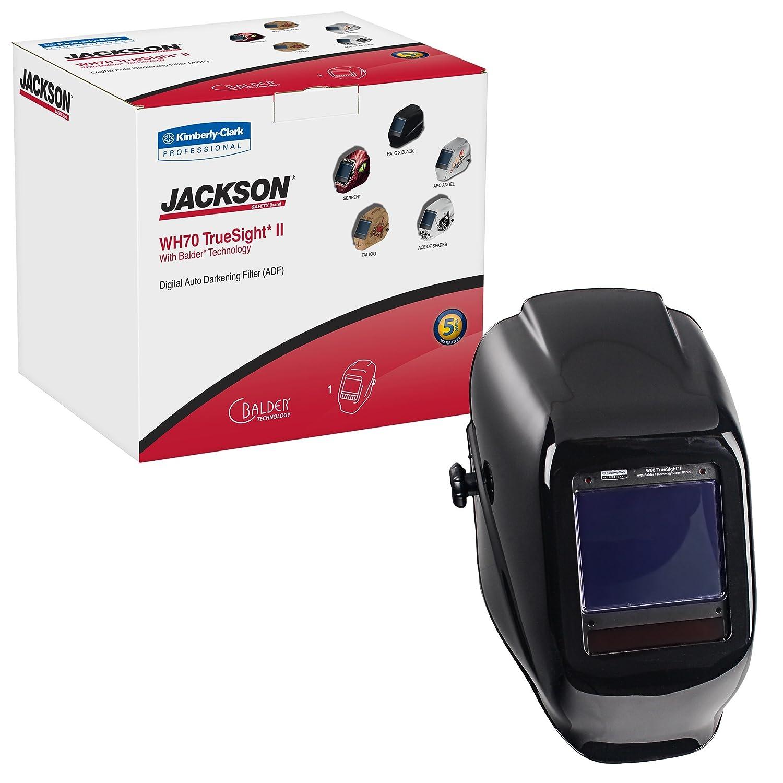 46159 W70 HLX ADF Jackson Safety TrueSight II Digital Auto Darkening Welding Helmet with Balder Technology 1 // Case Kimberly-Clark Professional Black