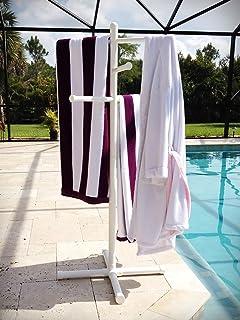 Pool U0026 Spa Towel Rack Premium Extra Tall Towel Tree Outdoor PVC White